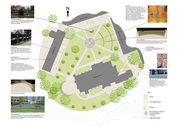 Proposed plans for St James Square at Cabinet